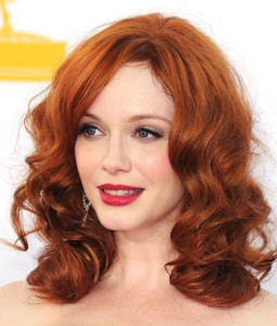 Christina-Hendricks-red-hair-color-is-average-in-red