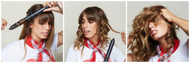 curling wand wave